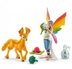 Schleich Figurki Zestaw Tęczowy elf Dunia ze źrebakiem