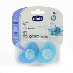 Chicco Smoczek do uspokajania Physio Air niebieski 0m+