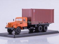 SSM KRAZ-257B1 Container Truck (orange)