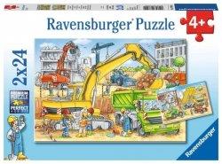 Ravensburger Puzzle 2x24 elementy Praca na Budowie