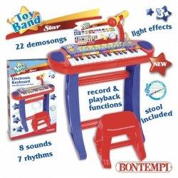 Bontempi Star Organy elektroniczne ze stołkiem i mikrofonem