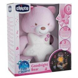Chicco Muzyczny Miś różowy z nocną lampką i projektorem