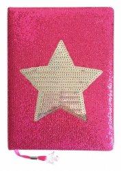 Stnux Notatnik Gwiazda różowy A5, 80 ozdobnych kartek