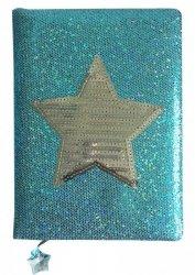 Stnux Notatnik Gwiazda niebieski A5, 80 ozdobnych kartek