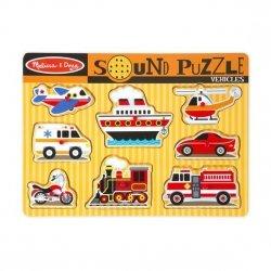 Melissa & Doug Puzzle dźwiękowe - Pojazdy