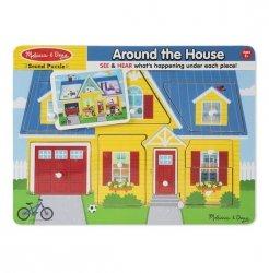 Puzzle drewniane dźwiękowe Dom