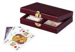 Piatnik Karty Lux w szkatułce drewnianej