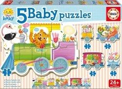 Puzzle Baby 19 elementów Zwierzęta w pociągu
