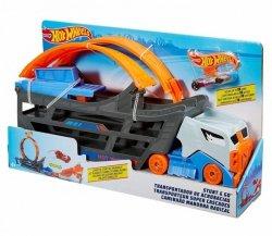 Hot Wheels Ciężarówka z pętlą + samochodzik Stunt & Go