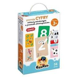 CzuCzu Zestaw edukacyjny Poznaję cyfry Zabawy edukacyjne z pisakiem zmazywakiem