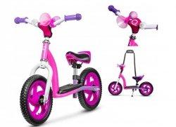 Rowerek biegowy 2w1 ROY różowy