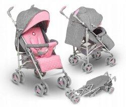 Wózek spacerowy IRMA szary/różowy