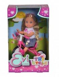 Simba Lalka Evi Love  na trójkołowym rowerku