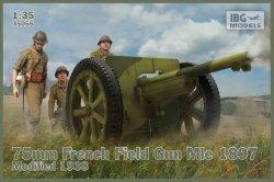 Ibg Model plastikowy 75mm francuska armata polowa Mle 1897 modyfikowana 1938