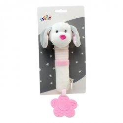 Zabawka z dźwiękiem New Baby Piesek biały 17 cm