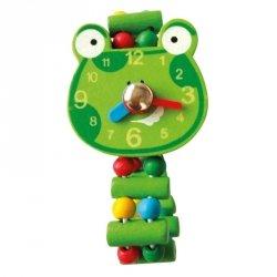 Drewniany zegarek żaba