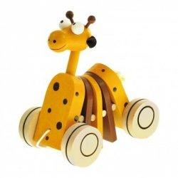 Drewniana żyrafka do ciągnięcia
