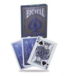 Bicycle Karty Metalluxe niebieskie
