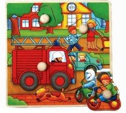 Brimarex Puzzle drewniane z pinezkami TOP BRIGHT - Straż Pożarna