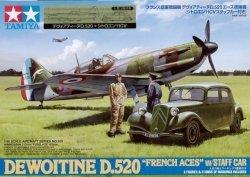 Tamiya Model plastikowy D.520 French Aces w/Staff Car