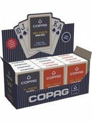 Cartamundi Karty Poker Plastik PKJ niebieskie Jumbo