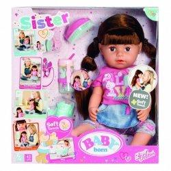 Zapf Lalka interaktywna Baby Born siostrzyczka, brunetka