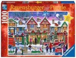 Ravensburger Puzzle 1000 elementów Świąteczny skwer