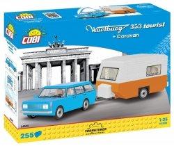 Cobi Klocki Klocki Cars Wartburg 353 Tourist + Przyczepa kempingowa