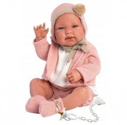 Llorens Lalka bobas Tina 43 cm w różowym sweterku