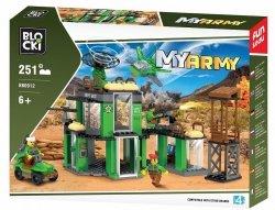 Blocki Klocki MYARMY 251 elementów - Baza wojskowa