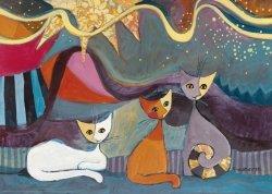 Puzzle 1000 elementów Szczęśliwa rodzina kotów