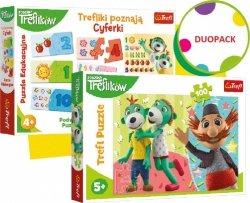 Trefl Duopack Trefliki Cyferki i puzzle 100 elementów
