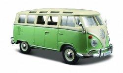 Maisto Model kompozytowy Volkswagen Van Samba beżowo-zielony
