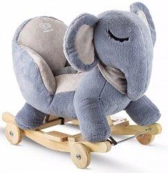 Kinderkraft Grający słoń na biegunach szary