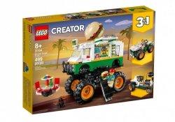 LEGO Klocki Creator Monster truck z burgerami