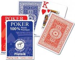 Piatnik Karty Classic Poker Duży pojedyncza talia