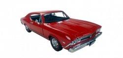 Welly Model kolekcjonerski 1968 Chevrolet Chevelle SS396, czerwony