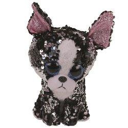Meteor Maskotka TY Boos Flippables 24 cm Portia, cekinowy terrier
