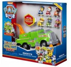 Spin Master Pojazd Psi Patrol Ekipa Rocky-e go + 6 figurek