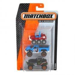 Mattel MATCHBOX Trzypak