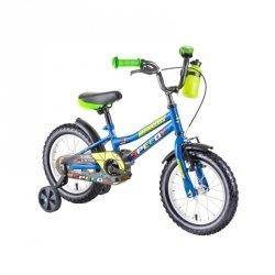 """Rower dla dzieci DHS Speedy 1401 14"""" - model 2019 Kolor Niebieski"""
