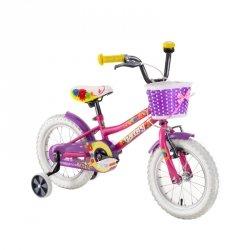 """Rower dla dzieci DHS Daisy 1402 14"""" - model 2019 Kolor Żółty"""