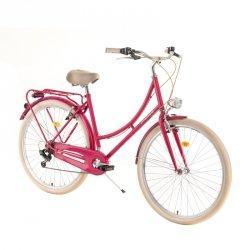 """Rower miejski DHS Citadinne 2834 28"""" - model 2019 Kolor Różowy, Rozmiar ramy 20"""""""