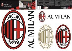 Naklejka ścienna zdejmowalna AC Milan - 2 arkusze 03
