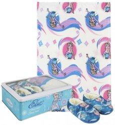 Zestaw prezentowy: koc polarowy, kapcie / pantofle i pudełko metalowe Frozen - Kraina Lodu : Rozmiar: - 30/31