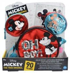 Torebka na ramię z odwracalnymi cekinami Myszka Mickey