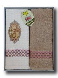 Ręcznik Bawełniany Olive Oil Mimoza Beż 2x 50x70 Kpl.