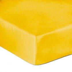 Prześcieradło Satyna Bawełniana Z Gumką 140x200 Kolor Żółtko