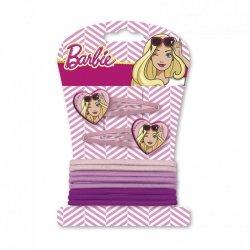 Spinki + gumki do włosów Barbie