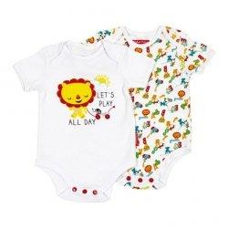Body niemowlęce – 2 pak Fisher Price : Rozmiar: - 6 m
